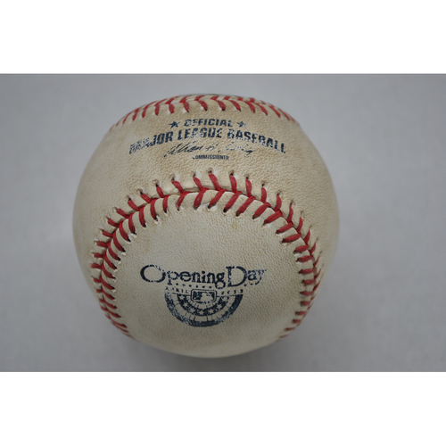 Game-Used Baseball - 4/9/13 - LAD at SDP - Batter - Juan Uribe, Pitcher - Clayton Richard, Top of 5, Pitch in the Dirt - Opening Day