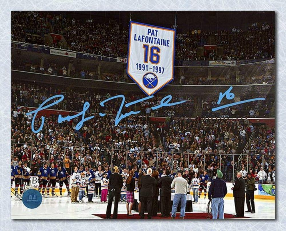 Pat LaFontaine Buffalo Sabres Autographed Jersey Retirement 8x10 Photo