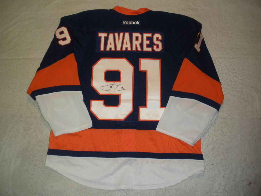 e9e28caf NHL Player Media Tour - #91 John Tavares - New York Islanders Autographed  Jersey
