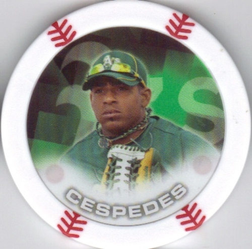 Photo of 2014 Topps Chipz #16 Yoenis Cespedes