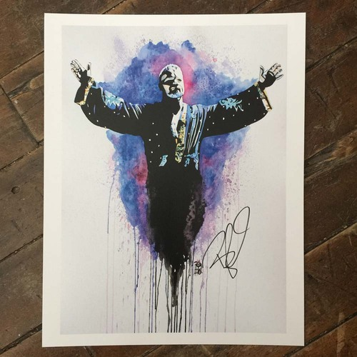 Bobby Roode SIGNED 11 x 14 Rob Schamberger Print