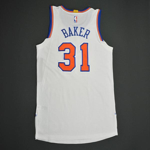 Ron Baker - New York Knicks - Game-Worn Rookie Debut Jersey - 1st ...