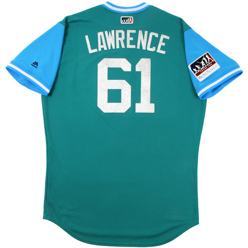 "Photo of Casey ""Lawrence"" Lawrence Seattle Mariners Game-Used Players Weekend Jersey"