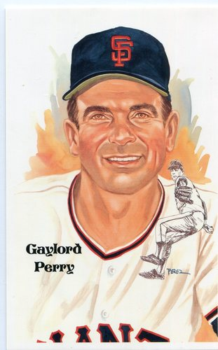 Photo of 1980-02 Perez-Steele Hall of Fame Postcards #210 Gaylord Perry -- HOF Class of 1991