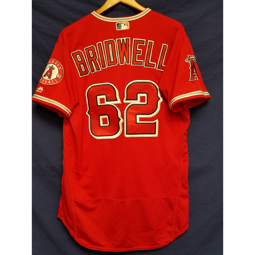 Parker Bridwell Game-Used Alternate Red Jersey