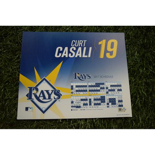 2017 Team-Issued Locker Tag - Curt Casali