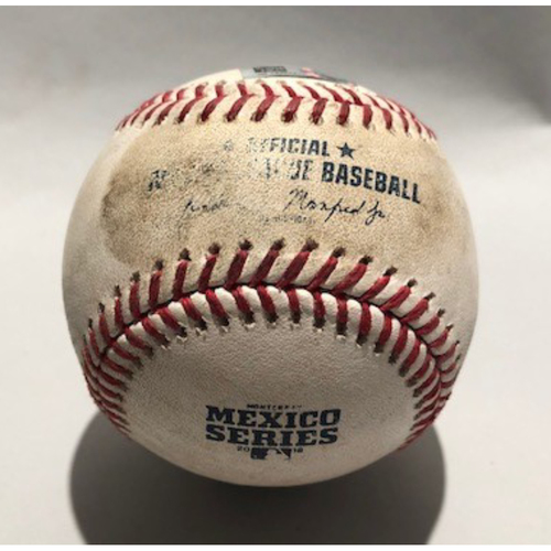 Photo of 2018 Mexico Series - Pitcher - Kenta Maeda, Batter - Travis Jankowski (Triple) - 05/05/18