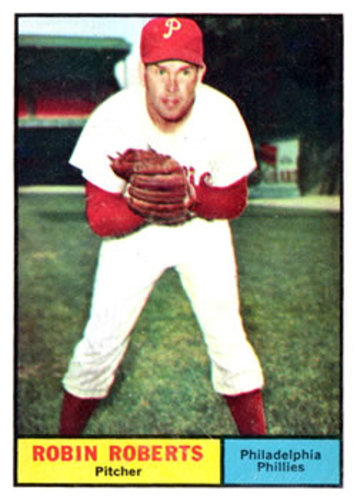 Photo of 1961 Topps #20 Robin Roberts -- Hall of Fame Class of 1976
