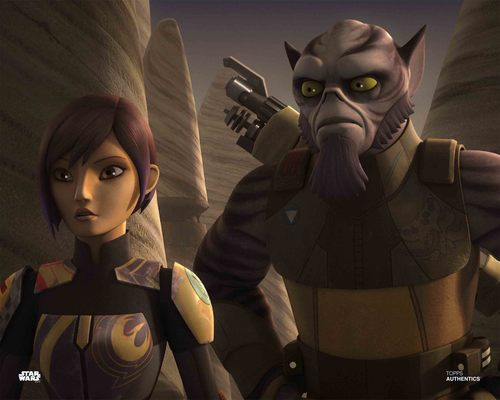 Sabine Wren and Zeb Orrelios