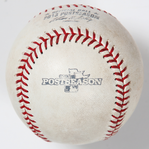 Photo of Game-Used Baseball: 2013 World Series Game 2 - St. Louis Cardinals at Boston Red Sox - Batter: David Ortiz, Pitcher: Michael Wacha - Bottom of 2, Ball