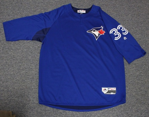 Photo of Authenticated Team Issued Batting Practice Jersey - #33 J.A. Happ. Size XL.