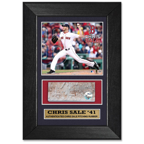 Photo of Chris Sale Game-Used Pitching Rubber Plaque
