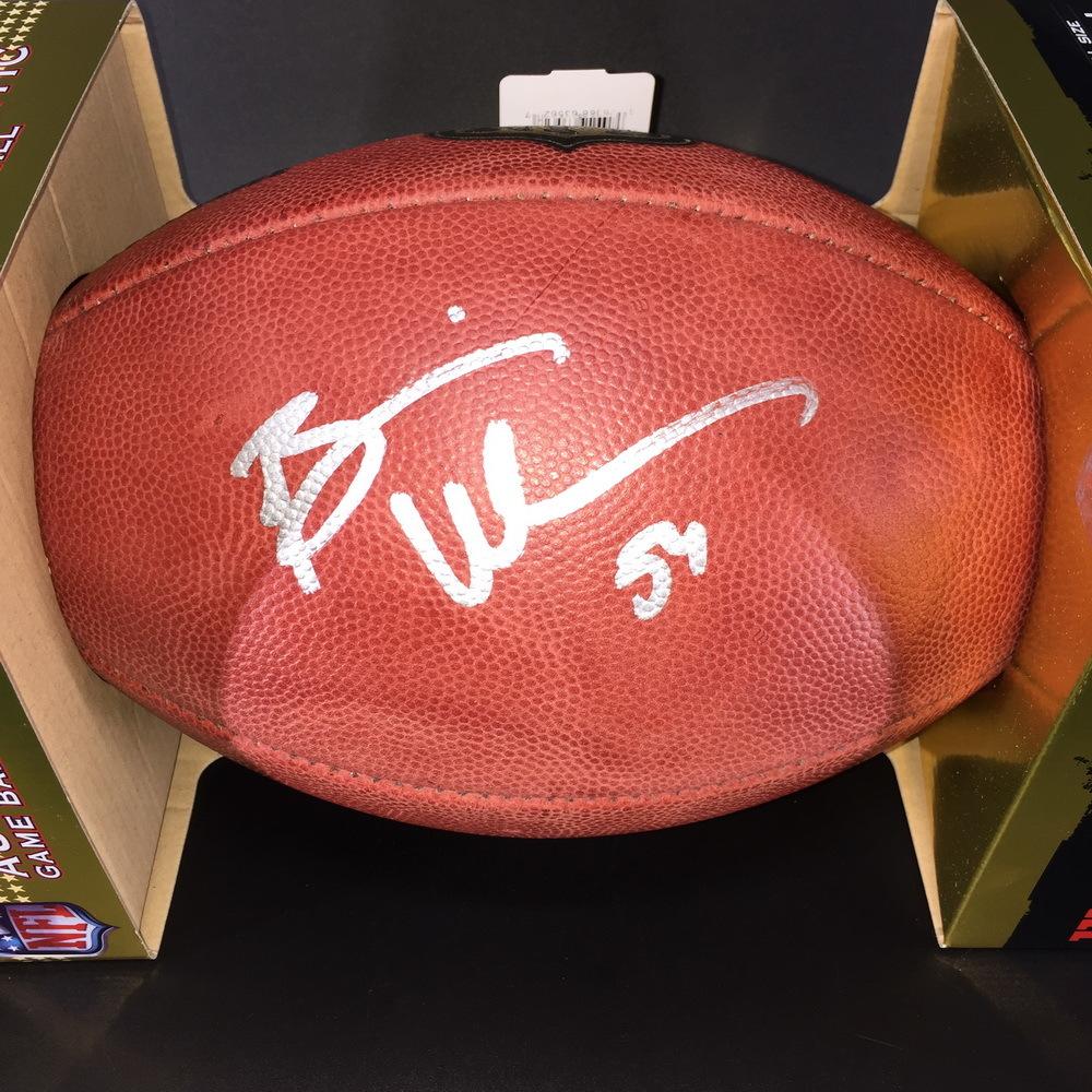 online retailer cf7e4 aeda4 NFL Auction | HOF - Bears Brian Urlacher Signed Authentic ...