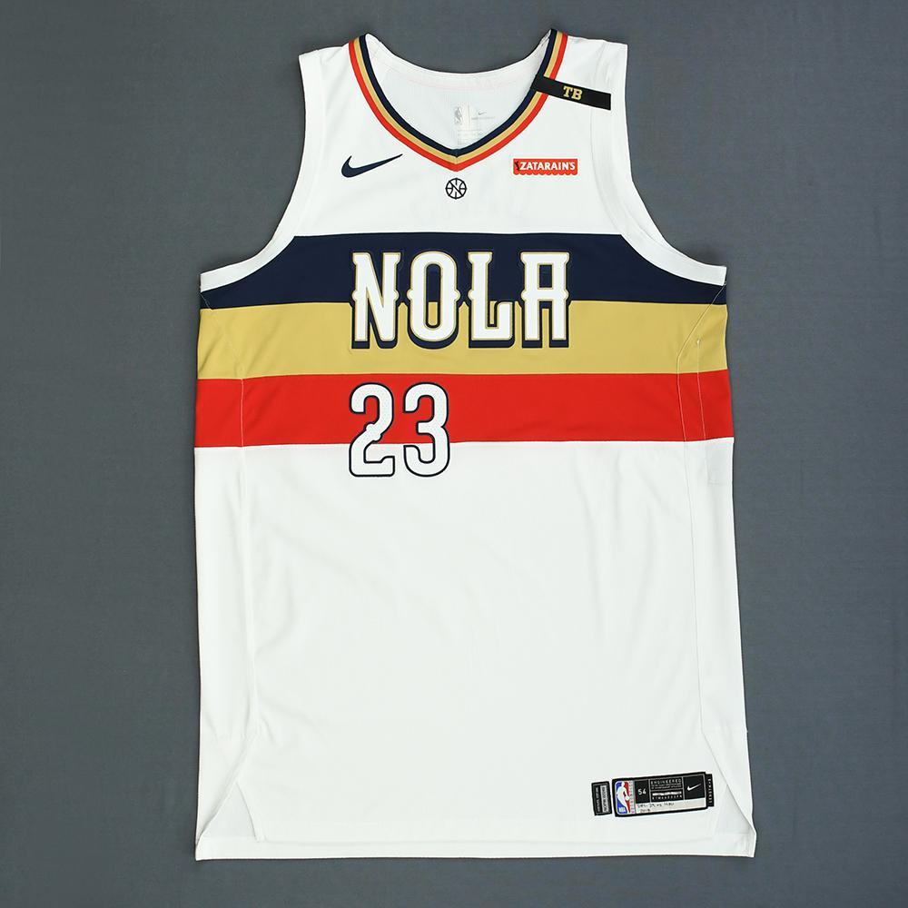 new styles 39ed8 c32b3 Anthony Davis - New Orleans Pelicans - Game-Worn Earned City ...