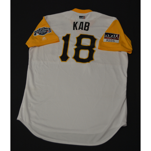 "Photo of 2019 Little League Classic - Game Used Jersey - Kimera ""Kab"" Bartee,  Chicago Cubs at Pittsburgh Pirates - 8/18/2019 (Size - 48)"