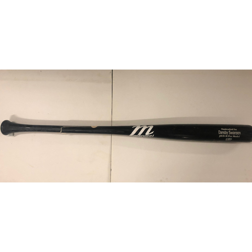 Photo of Dansby Swanson Game Used Cracked Bat - 9/20/19 - Braves Clinch NL East