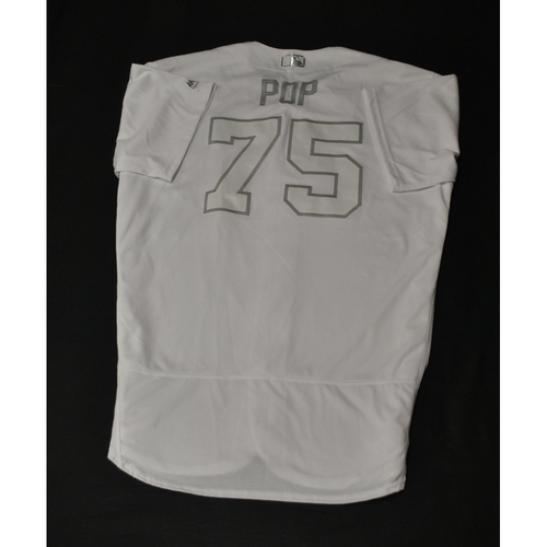 "Photo of Ron ""POP"" Warner St. Louis Cardinals Game-Used 2019 Players' Weekend Jersey"