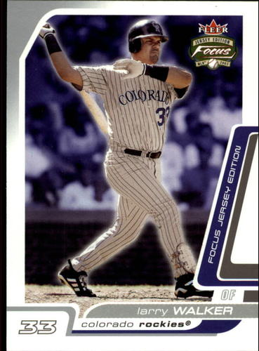 Photo of 2003 Fleer Focus JE #139 Larry Walker