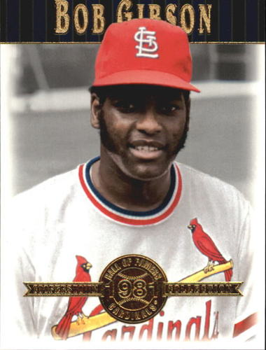 Photo of 2001 Upper Deck Hall of Famers #8 Bob Gibson