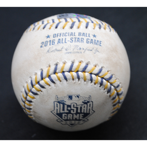 Photo of 2016 All Star Game (07/12/2016) - Game-Used Baseball - Bottom of 6th, Batter - Eric Hosmer, Pitcher Max Scherzer - Foul Ball