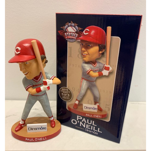 Photo of Reds Hall of Fame 1990 25th Anniversary Series - Paul O'Neill Autographed Bobblehead