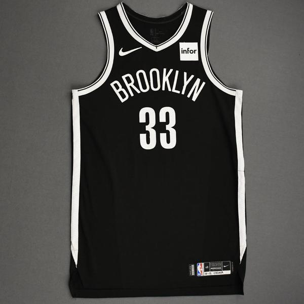 Image of Nicolas Claxton - Brooklyn Nets - NBA China Games - Game-Worn Icon Edition Jersey - 2019-20 NBA Season