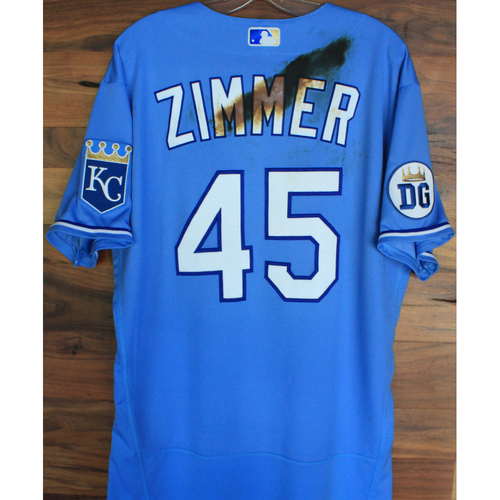 Photo of Alex's Lemonade Stand Foundation: Team-Issued Kyle Zimmer Jersey (Size 46 - Authenticated as Team-Issued on 9/26/20 DET @ KC)