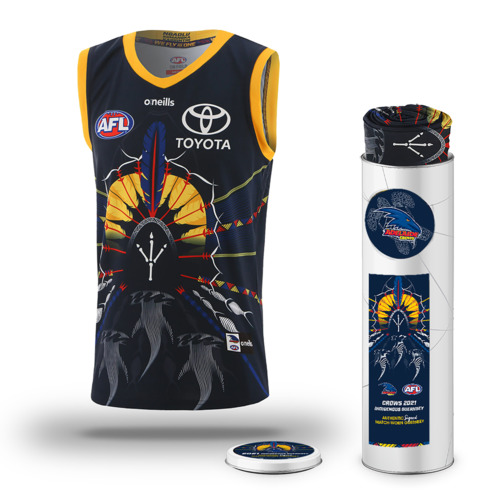 Photo of LOT AG - 2021 AFC INDIGENOUS GUERNSEY -  SIGNED BY #35 - JAMES BORLASE