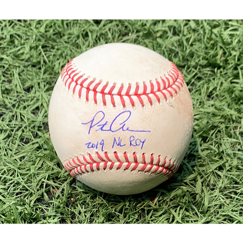 Photo of Pete Alonso #20 - Autographed Game Used Baseball - Chris Martin to Pete Alonso - Single - 9th Inning - Mets vs. Braves - 8/23/19