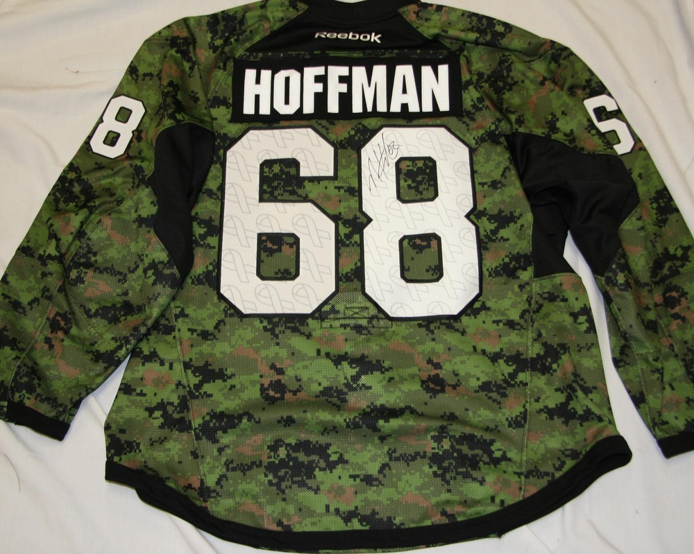 68 - Mike Hoffman Autographed Authentic Canadian Forces Warm Up