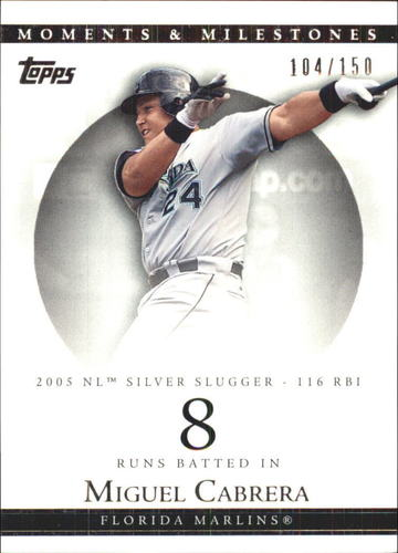 Photo of 2007 Topps Moments and Milestones #110-8 Miguel Cabrera/RBI 8