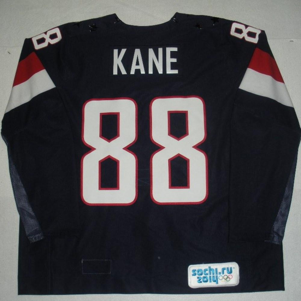 Patrick Kane - Sochi 2014 - Winter Olympic Games - Team USA Blue Game-Worn Jersey - Bronze Medal Game vs. Finland, 2/22/14