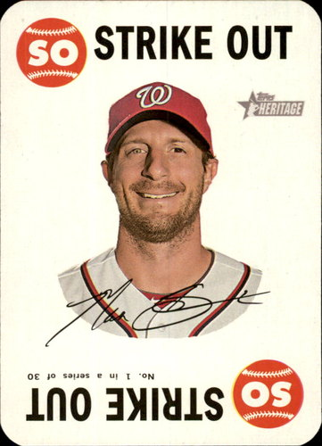 Photo of 2017 Topps Heritage Topps Game #1 Max Scherzer -- Nationals post-season