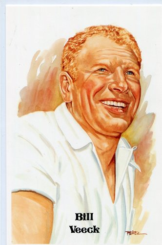 Photo of 1980-02 Perez-Steele Hall of Fame Postcards #211 Bill Veeck -- HOF Class of 1991