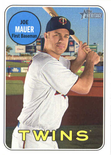 Photo of 2018 Topps Heritage #158 Joe Mauer