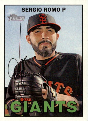 Photo of 2016 Topps Heritage #232 Sergio Romo