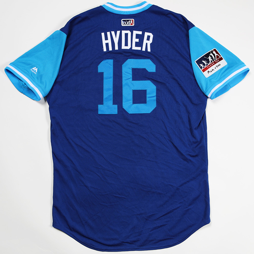 "Photo of Brandon ""Hyder"" Hyde Chicago Cubs Game-Used 2018 Players' Weekend Jersey"