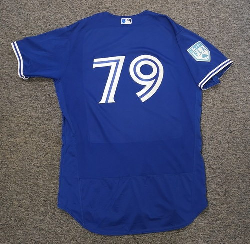Photo of Authenticated Game Used 2019 Spring Training Jersey - #79 Corey Copping (Mar 25: 1 IP, 0 ER, 1 K). Size 48