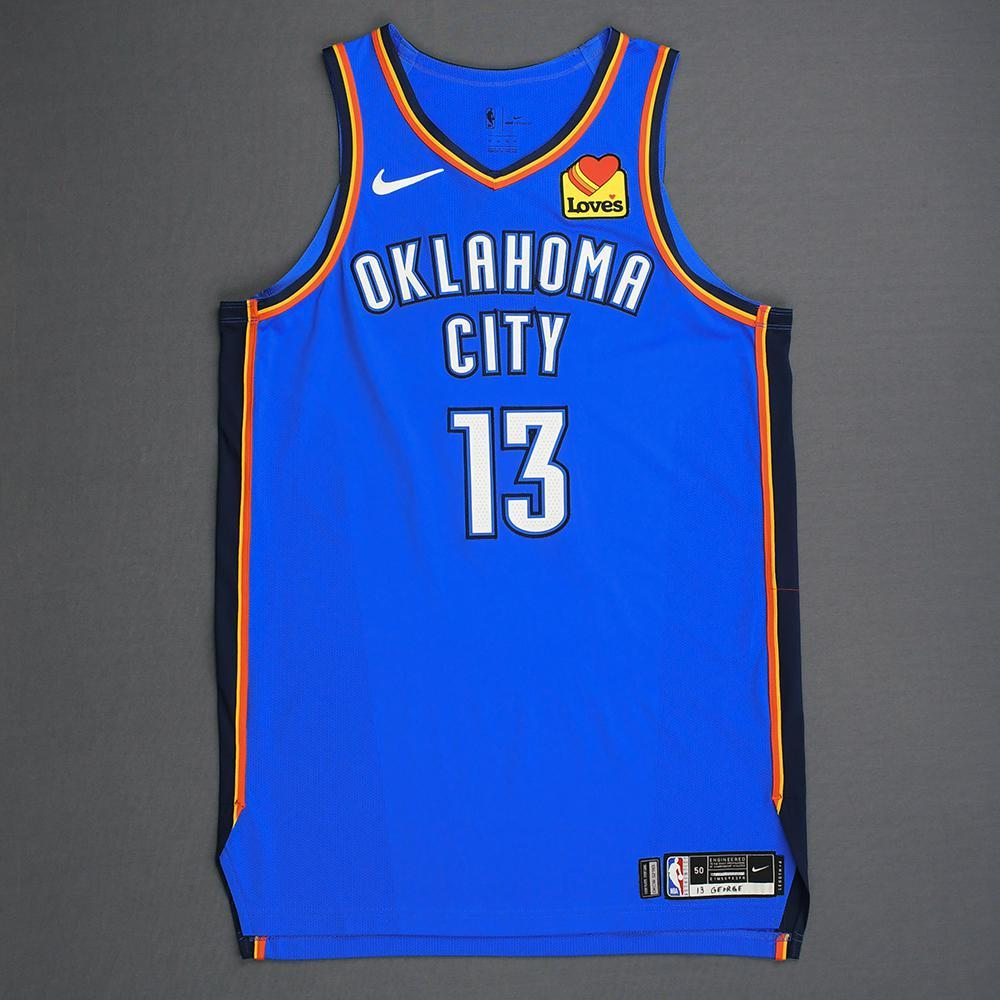 official photos 972f3 813c3 Paul George - Oklahoma City Thunder - Game-Worn Icon Edition ...