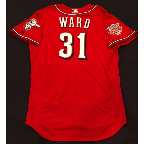"Photo of Turner Ward -- Team-Issued ""Los Rojos"" Jersey -- D-backs vs. Reds on 9/6/19 -- Jersey Size 48"