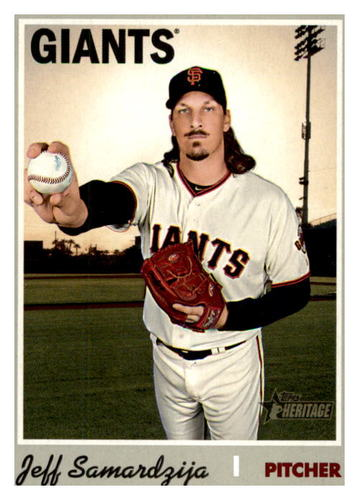 Photo of 2019 Topps Heritage #600 Jeff Samardzija