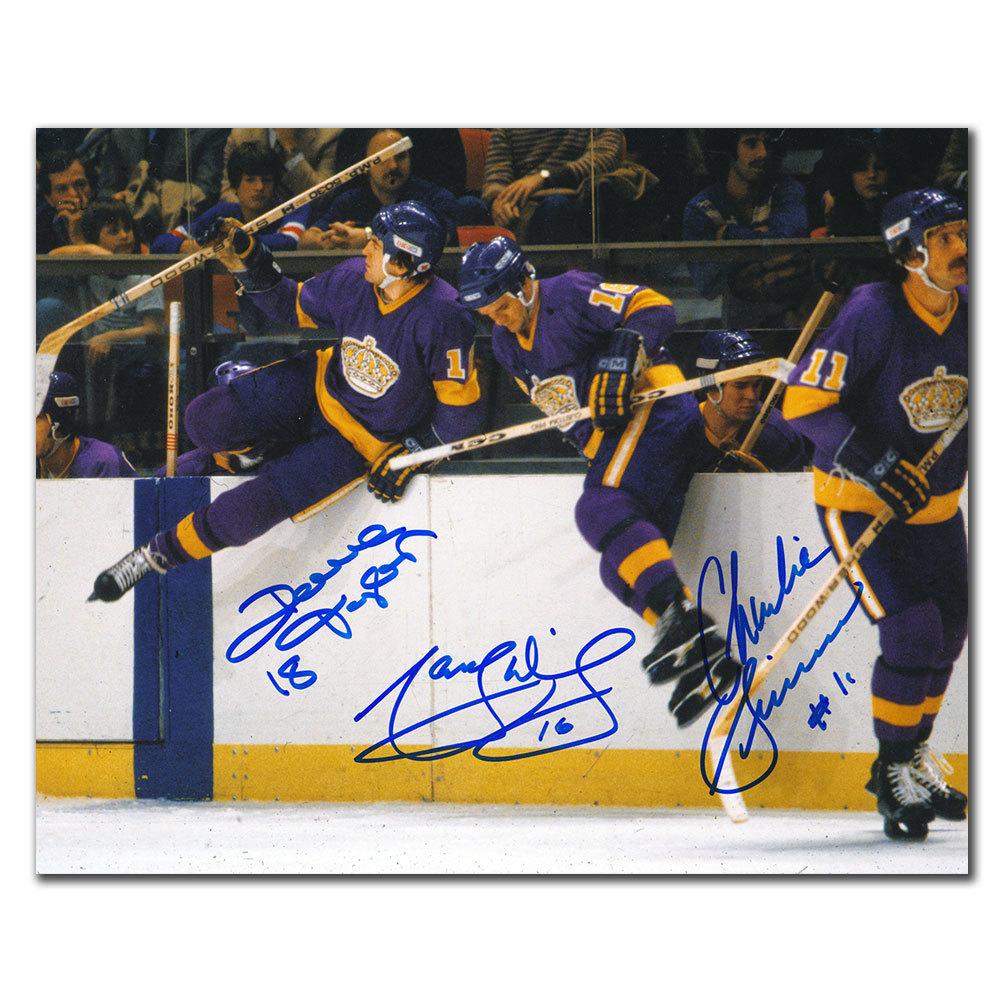 Marcel Dionne Dave Taylor & Charlie Simmer Los Angeles Kings TRIPLE CROWN LINE Autographed 16x20