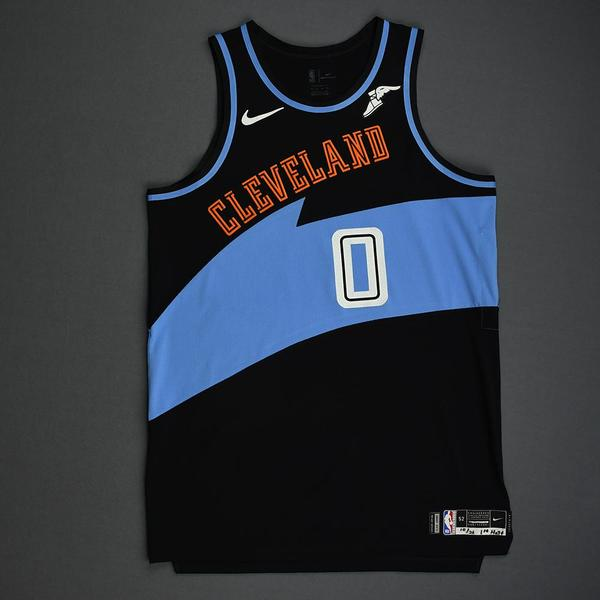 Image of Kevin Love - Cleveland Cavaliers - Game-Worn 1st Half Classic Edition 1994-96 Road Jersey - Double-Double - 2019-20 Season