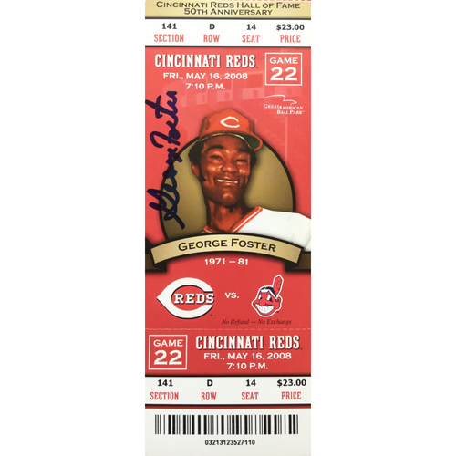 Photo of George Foster Signed Ticket