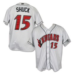 Photo of #15 JB Shuck Autographed Game Worn Home White  Jersey
