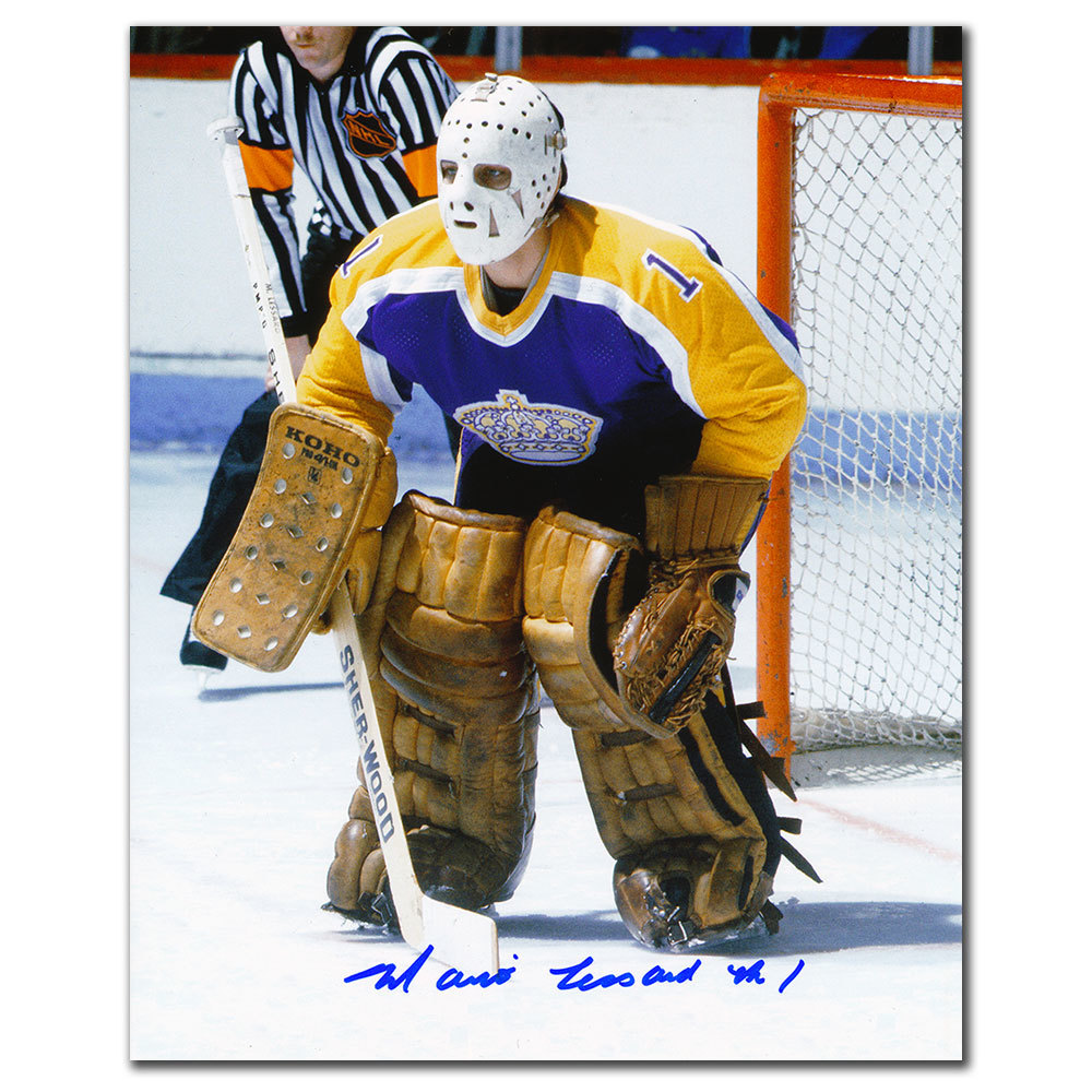 Mario Lessard Los Angeles Kings ACTION Autographed 8x10