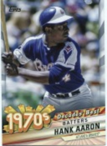Photo of 2020 Topps Decades' Best Series 2 #DB50 Hank Aaron