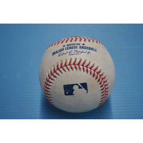 Photo of Game-Used Baseball - 2020 ALCS - Tampa Bay Rays vs. Houston Astros - Game 3 - Pitcher - Pete Fairbanks, Batter - Carlos Correa (Groundout to Shortstop) - Bot 6