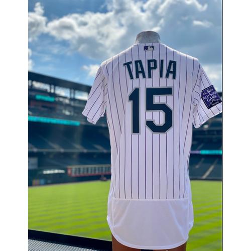 Photo of 2021 Game-Used Raimel Tapia Jersey - 6 Games, 14 Hits, 1 Walk-Off Home Run, 7 RBI's