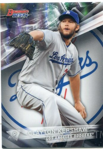 Photo of 2016 Bowman's Best Refractors #30 Clayton Kershaw
